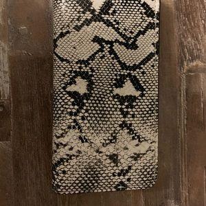 Brand New Snakeskin Clutch!!